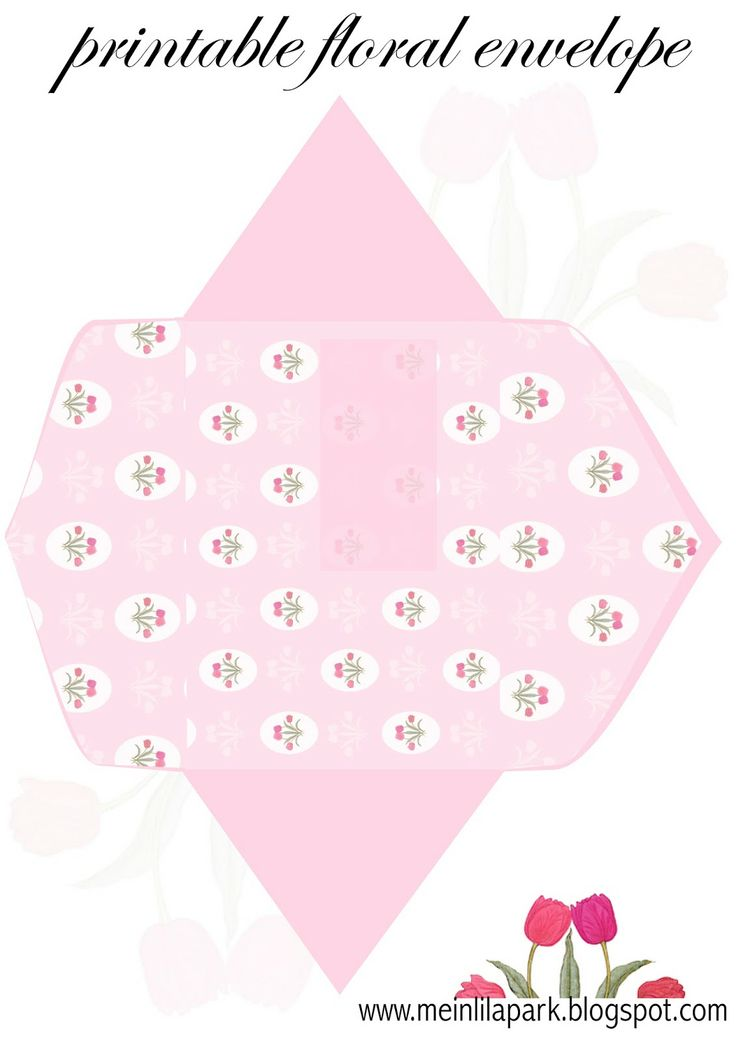 Free printable pink floral envelope - ausdruckbarer Briefumschlag - freebie | MeinLilaPark – digital freebies