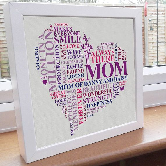 8 best canvas images on pinterest word art mother day gifts and personalised mum or mum word art gift unique mothers heart present pronofoot35fo Choice Image