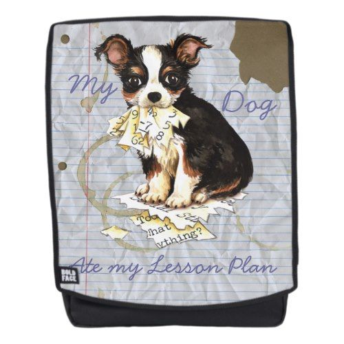 My Long Coat Chihuahua Ate my Lesson Plan Backpack