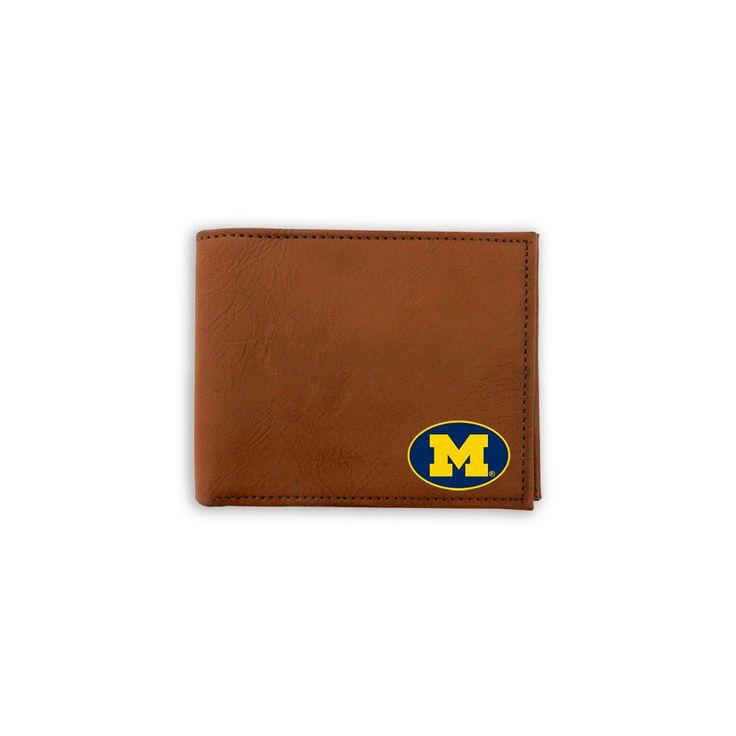 GameWear Michigan Wolverines Classic Bifold Wallet, Men's, Brown