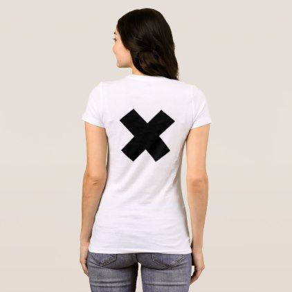 X by Valencia Black T-Shirt - black gifts unique cool diy customize personalize
