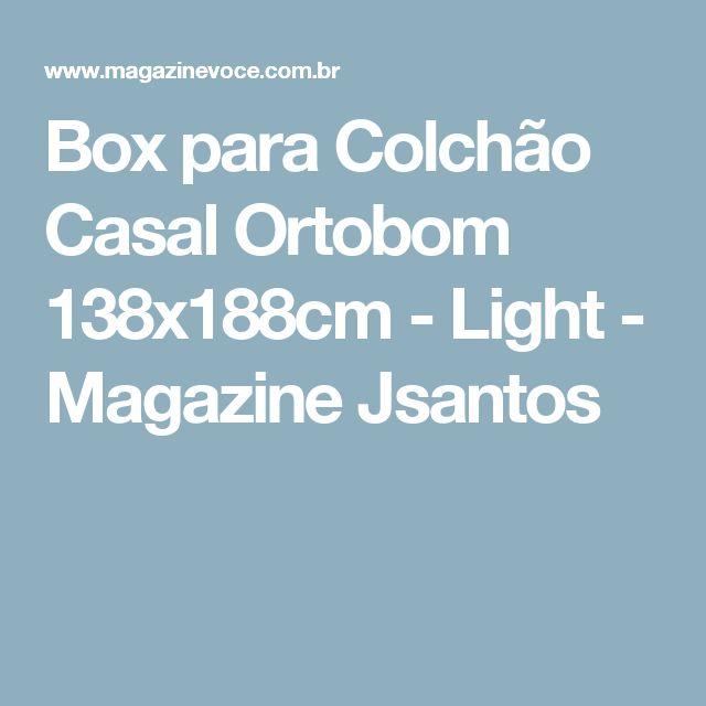 Box para Colchão Casal Ortobom 138x188cm - Light - Magazine Jsantos