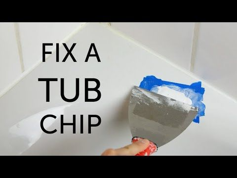 Repairing chips in a bathtub - YouTube