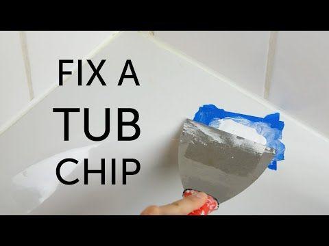 Repairing chips in a bathtub - YouTube