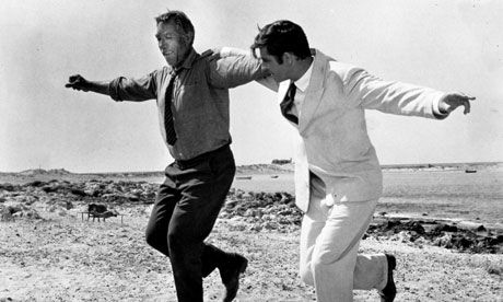 "A wonderful movie! ""Zorba - teach me to dance!"" Anthony Quinn is marvelous as Zorba. ""This is true happiness: to have no ambition and to work like a horse as if you had every ambition. To live far from men, not to need them and yet to love them. To have the stars above, the land to your left and the sea to your right and to realize of a sudden that in your heart, life has accomplished its final miracle: it has become a fairy tale."" ― Nikos Kazantzakis, Zorba the Greek"