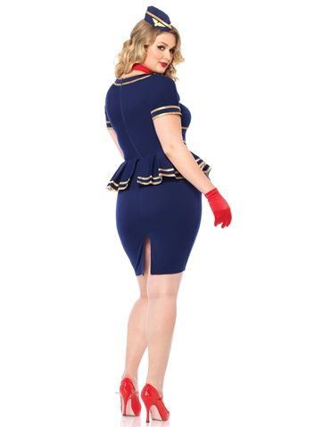 friendly skies flight attendant a retro and sexy plusi size costume curvygirls halloween costumes