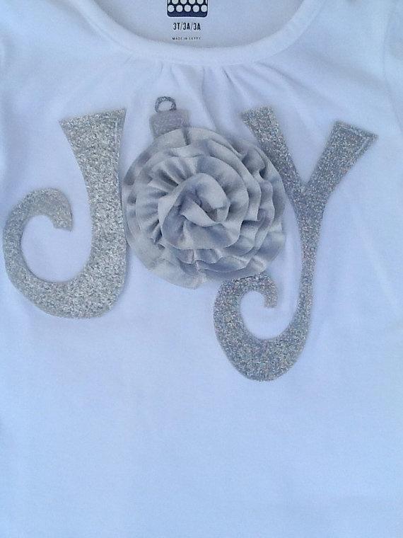 JOY Sparkle Ornament Christmas Shirt by FewThingsBlue on Etsy, $19.00