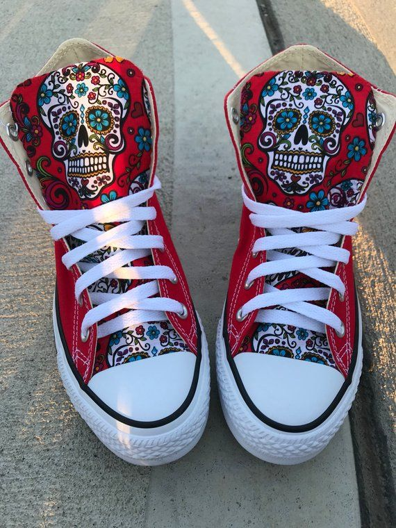 2f4881da6c1 Sugar skull Converse Chuck Taylor Shoes in 2019 | Products | Chuck ...