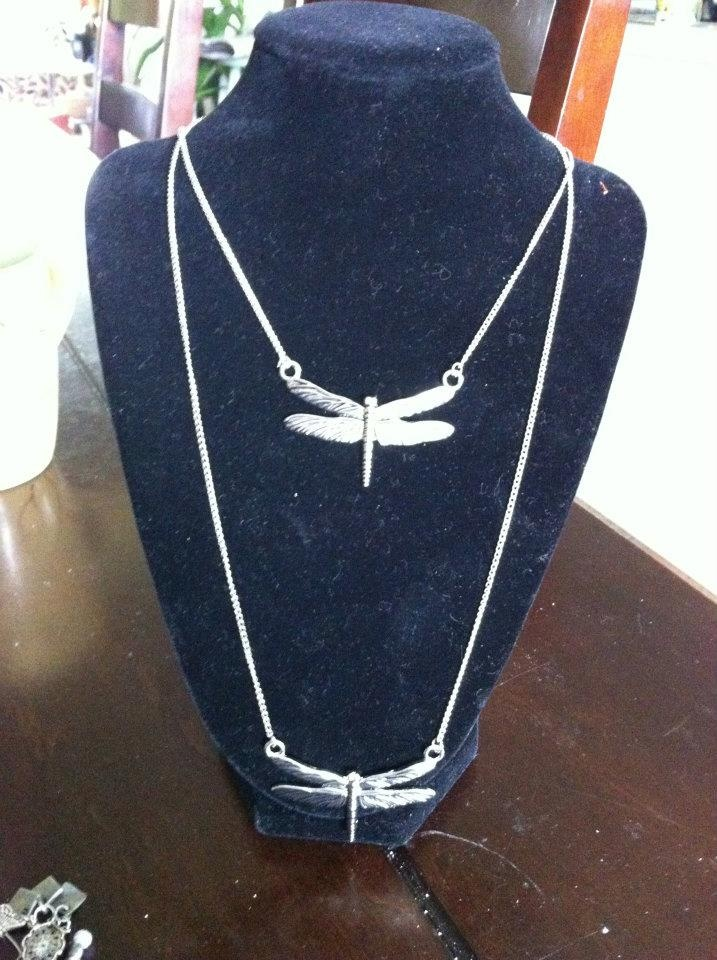 Double Dragonfly Necklace $20