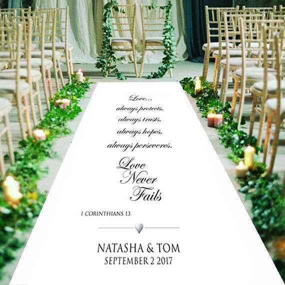 Personalised Wedding Aisle Runner Church Wedding Carpet Decoration 15ft 30ft Personalized Wedding Aisle Runner Aisle Runner Wedding Wedding Aisle
