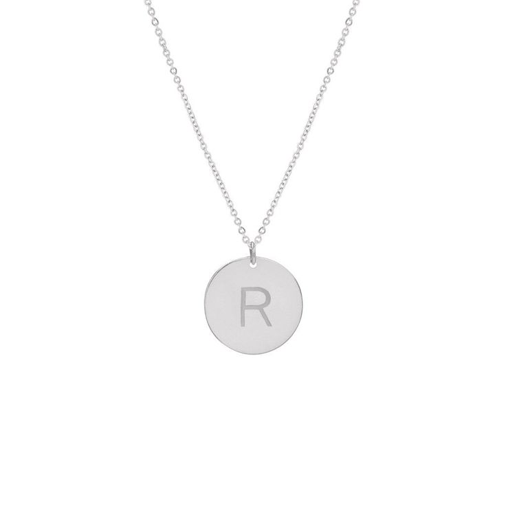 """""""H"""" Initial Disc Necklace - 5/8"""""""