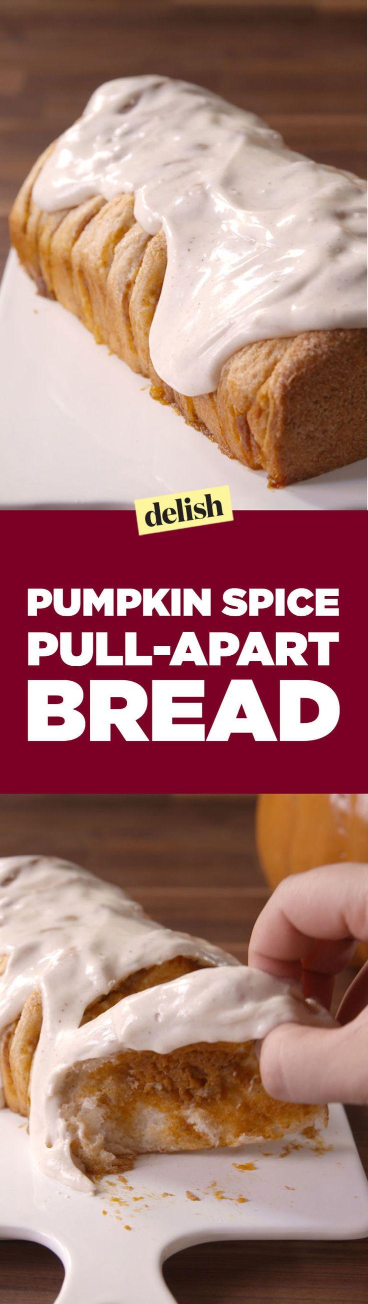 Even Pumpkin Haters Can't Resist This Pumpkin Spice Pull-Apart Bread  - Delish.com