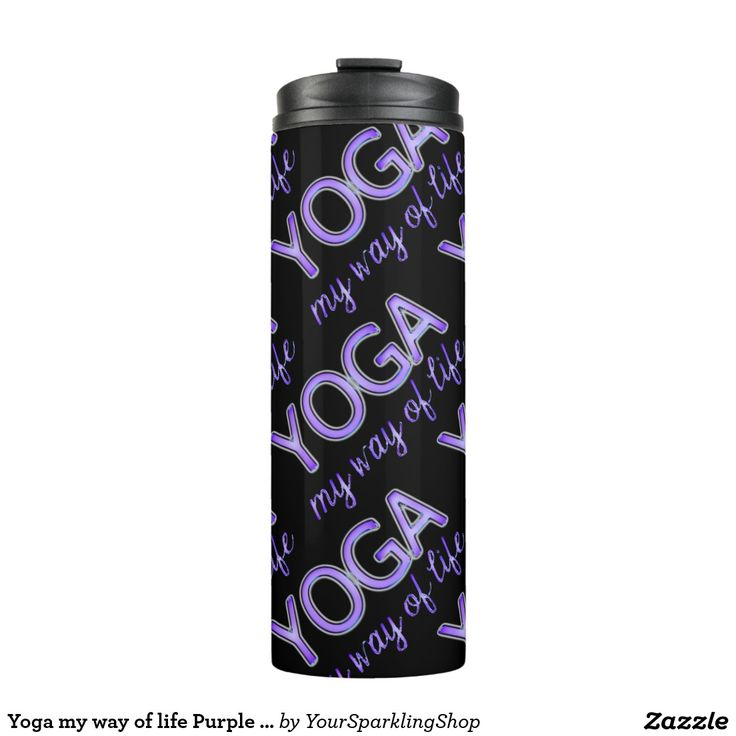 #Yoga my way of life #Purple Typography #Thermal #Tumbler #giftideas