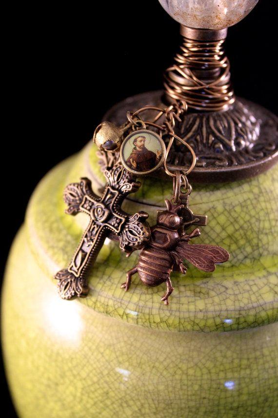Gorgeous Crazed Green Prayer Jar by ThouArtPottery on Etsy