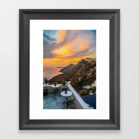 Gorgeous Santorini b Framed Art Print