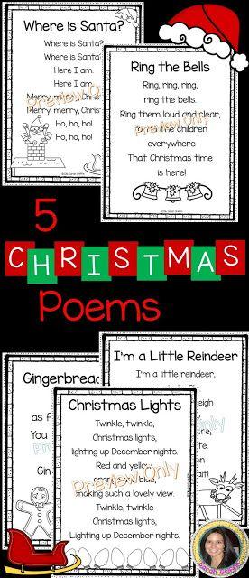 5 Christmas Poems for Kids