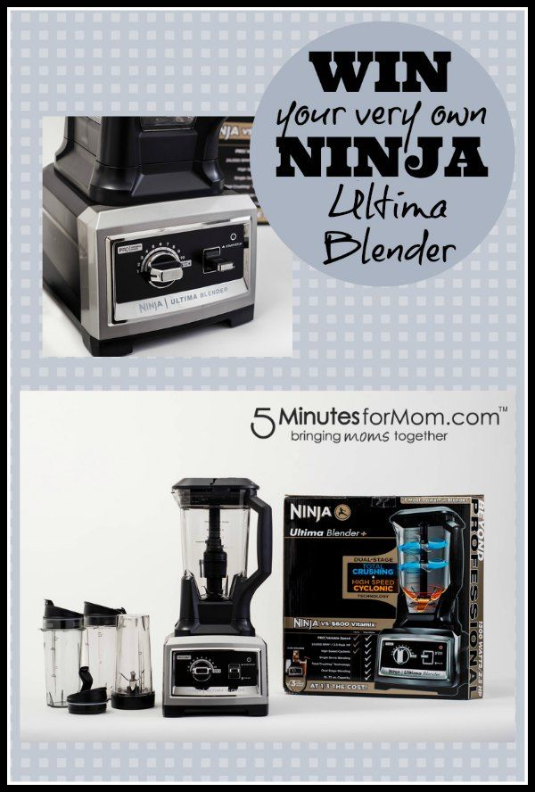 #WIN a Ninja Ultima Blender from @Susan Caron & Janice (5 Minutes For Mom) #review #giveaway