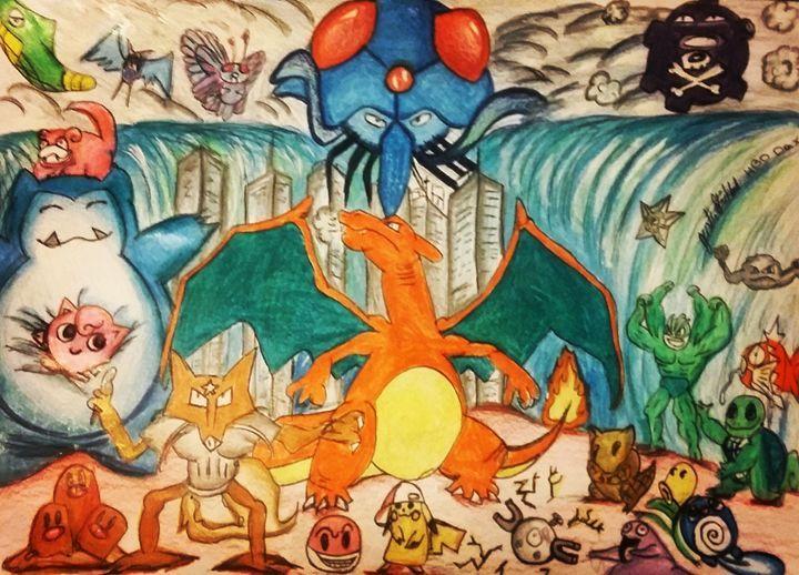 pokemon - Artwork by Justin Strickland