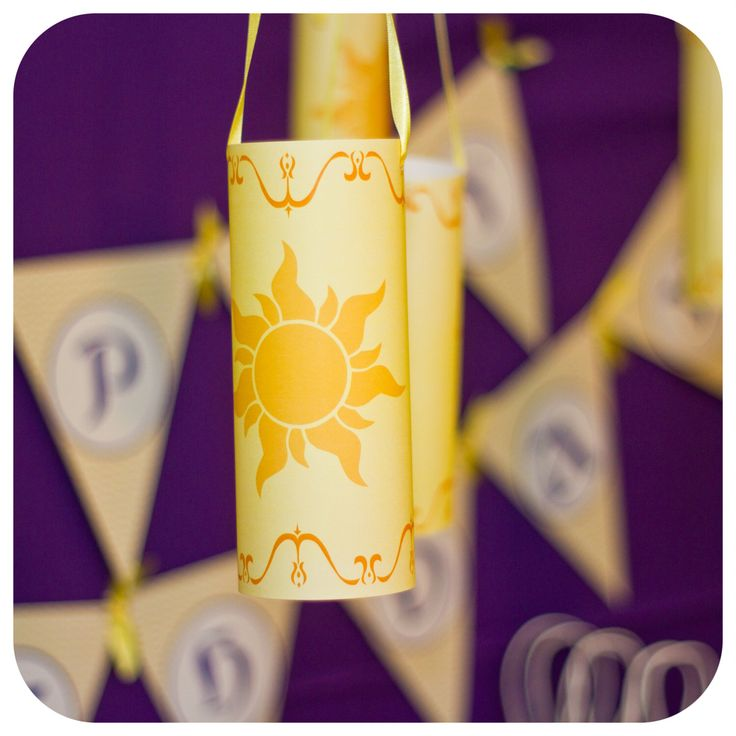Tangled Birthday Party; Tangled Hanging Lanterns; Tangled Decor by KraftsbyKaleigh on Etsy https://www.etsy.com/listing/217452923/tangled-birthday-party-tangled-hanging