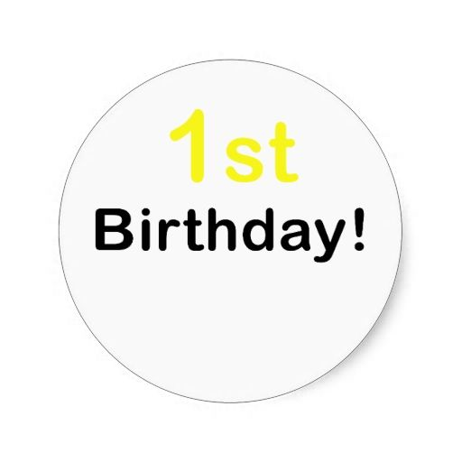 1000+ Images About 1st Birthday Stickers On Pinterest