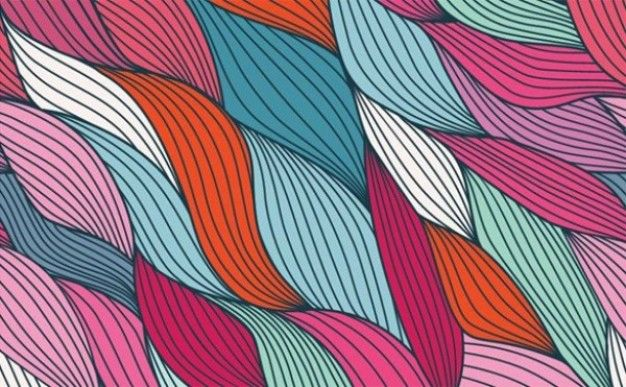 Colorful retro abstract strands vector