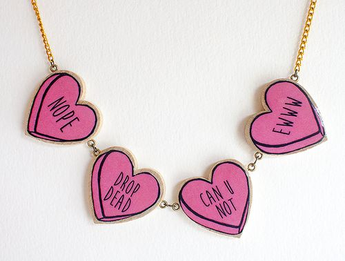 a new and improved candy heart necklac