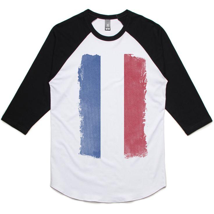 theIndie Weathered Flag of the Netherlands 3/4-Sleeve Raglan Baseball T-Shirt