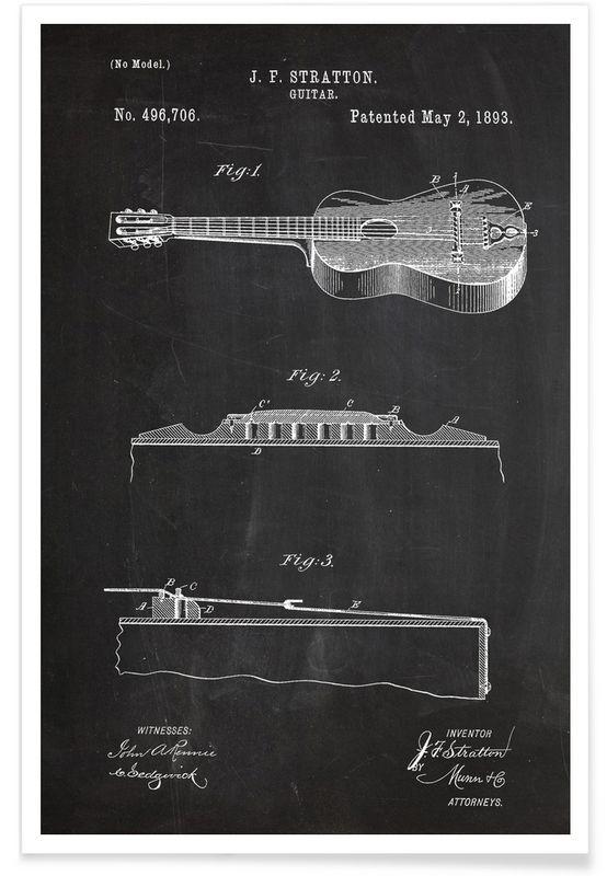 Acoustic Guitar - Stanley Print House - Premium Poster