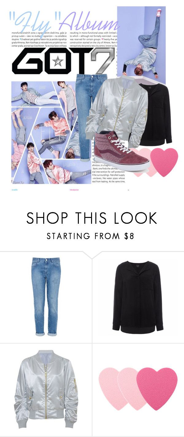 """Got7 Fly Album, Mark inspired Outfit"" by little-miss-mischievous ❤ liked on Polyvore featuring Oris, STELLA McCARTNEY, SELECTED, Sephora Collection, Vans and kpop"