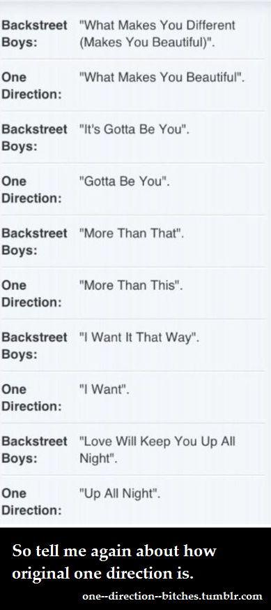 Backstreet Boys vs One Direction