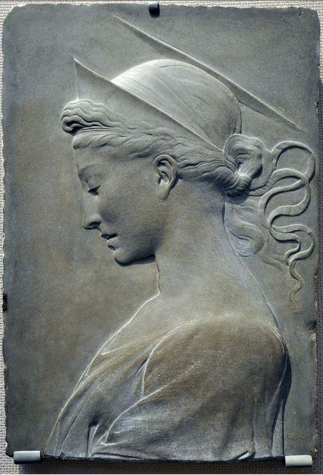 Desiderio da Settignano (1428-1464), bassorilievo in arenaria grigio scuro, (attrib.). Toledo, Museo d'Arte.