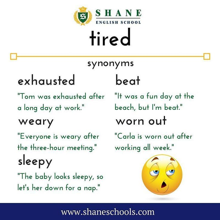 We use the word 'tired' a lot... but what words could we use instead?  #ShaneEnglishSchool #ShaneEnglish #ShaneSchools #English #Englishclass #Englishlesson #Englishfun #Englishisfun #language #languagelearning #education #educational #word #words #wordoftheday #vocabulary #vocab #synonym #differentwords