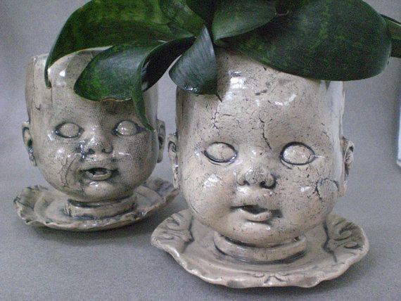 Белый Кукла Глава плантатор - конус 5 сеялка для горшечных растений, на открытом воздухе или в помещении