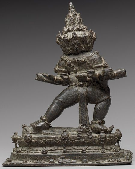 The Buddhist Guardian Mahabala, Eastern Javanese period, 11th century - Indonesia (Java)  Bronze