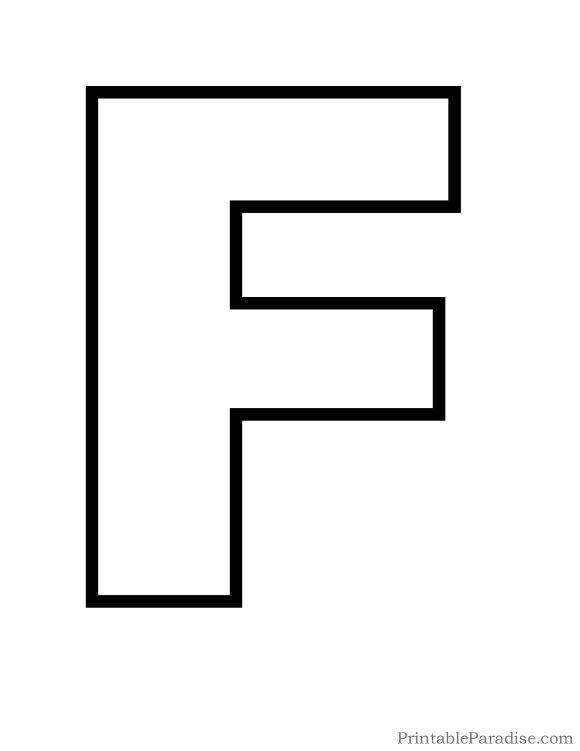 Printable Letter F Outline Print Bubble Letter F