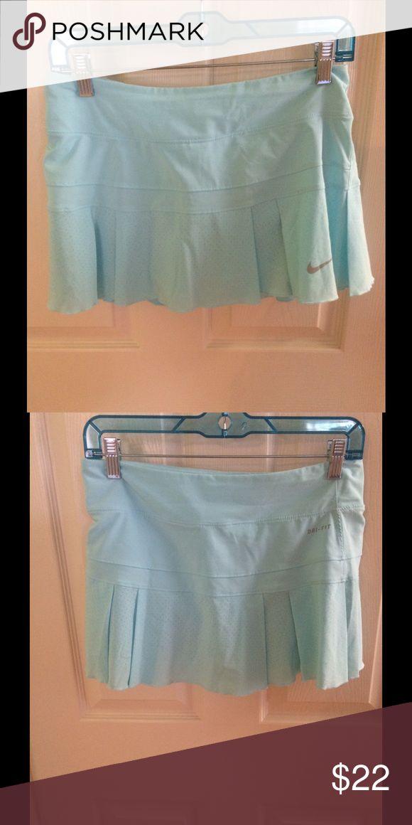 NIKE light blue pleated tennis skirt worn once light blue pleated Nike tennis skirt worn once. $22 or best offer Nike Skirts