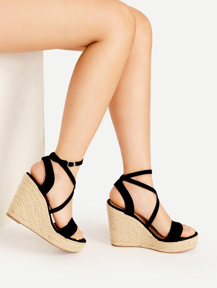 Shop Cross Strap Espadrille Wedges online. SheIn offers Cross Strap Espadrille Wedges & more to fit your fashionable needs.