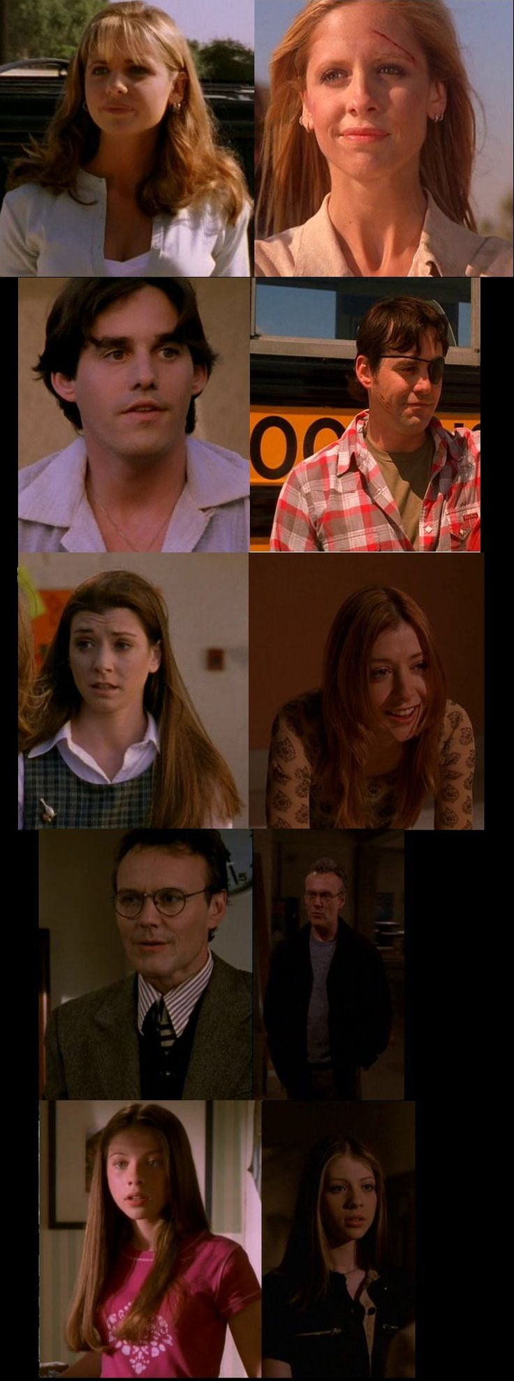 First days and last of Buffy characters.   (The last days of Tara & Anya... not so lovely)