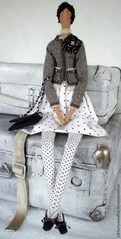 Куклы Тильды ручной работы. Ярмарка Мастеров - ручная работа кукла тильда ручной работы ШАНЕЛЬ. Handmade.