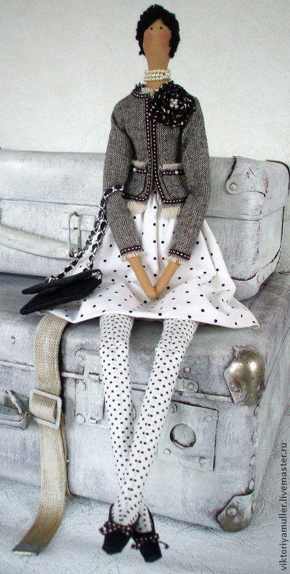 """Куклы Тильды ручной работы. Ярмарка Мастеров - ручная работа Кукла в стиле Тильда """" ШАНЕЛЬ"""". Handmade."""
