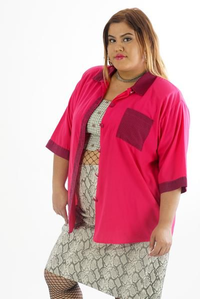 Vintage 80s Hot Pink Bowling Shirt - 2XL      #curvy #plussize #fashion #windbreaker #90s #alternativecurves #plussizemodel #unicorn #unicorntears #camo #camo #pants #style