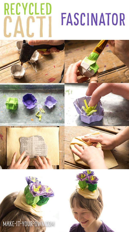 CACTI FASCINATOR Re use an egg carton to