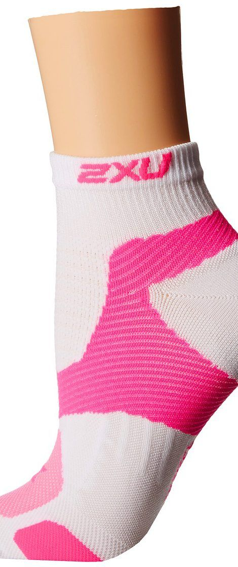 2XU Long Range VECTR Sock (White/Fluro Pink) Women's Crew Cut Socks Shoes - 2XU, Long Range VECTR Sock, WQ3528e, Footwear Socks Crew Cut, Crew Cut, Socks, Footwear, Shoes, Gift - Outfit Ideas And Street Style 2017