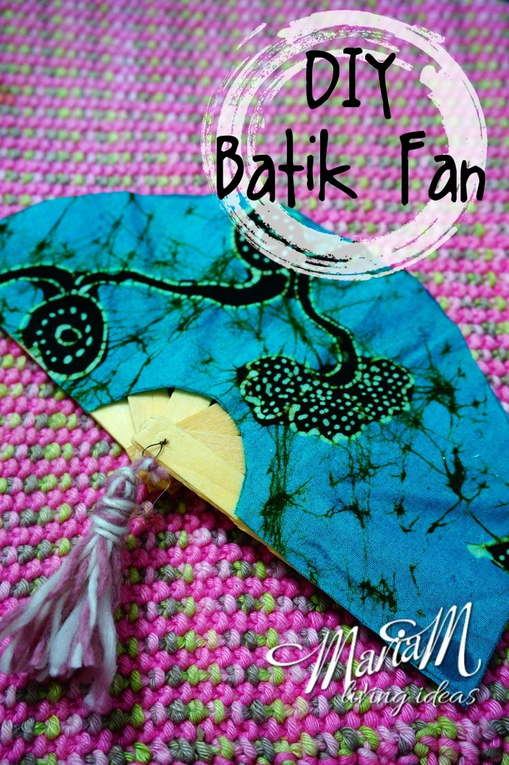 DIY Batik Fan