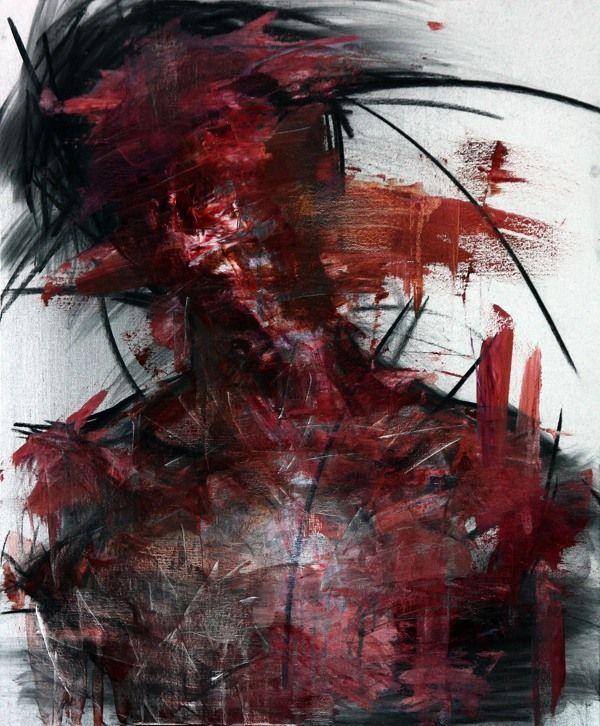 [27] untitled oil & charcoal  on panel 72.5 x 60 2013 by KwangHo Shin, via Behance