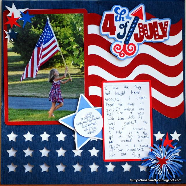 Suzy's Sunshine Spot: Memories of summer.....scrapbook page using SVG file from Miss Kate's Cuttables