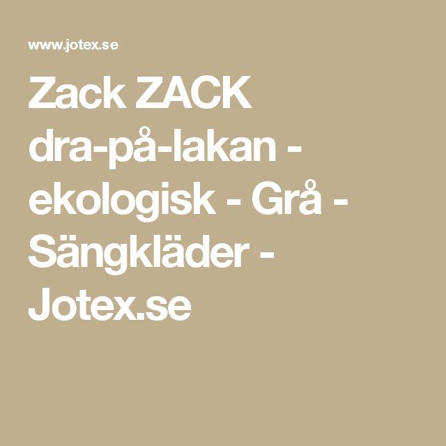 Zack ZACK dra-på-lakan - ekologisk - Grå - Sängkläder - Jotex.se