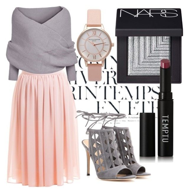 """old pink"" by chaoticandglamour on Polyvore featuring Ãté Swim, Gianvito Rossi, NARS Cosmetics, Temptu and Topshop:"