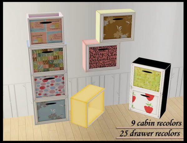 25 recolors of Cube Cabinet