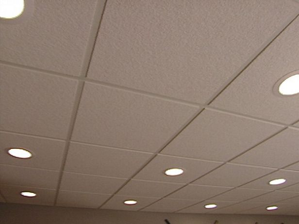 drop ceiling lighting options | How to Install an Acoustic Drop Ceiling : How-To : DIY Network